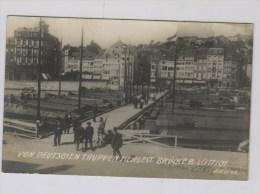 Carte Allemande: Pont Réparé  Par Les Allemands Près De Liège - Guerre 1914-18