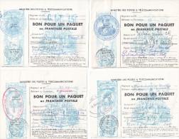 -> Lot De 4 Bons Pour Un Paquet En Franchise Militaire De Metz - Jeanne D´Arc - Franchise Stamps