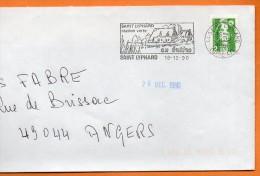44 SAINT LYPHARD  STATION VERTE  16 / 12 / 1990 Lettre Entière 110x220 N° U 520 - Mechanical Postmarks (Advertisement)