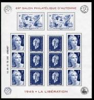 """Bloc-feuillet** De 2015 Avec 14  Timbres Gommés """"69e Salon Phil. D´Automne - Marianne De La Libération"""" - Nuovi"""