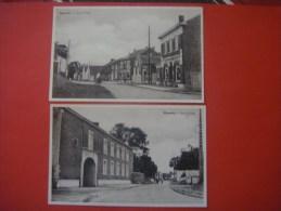 Lot De 2 Cartes De MOMALLE ( Remicourt ) Rue El'Vau ( Magasin Union Coopérative ) - Remicourt