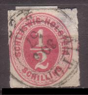 Schleswig - Holstein , 1865 , Mi.Nr. 8 O / Used - Schleswig-Holstein