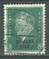 DEUTSCHES REICH 1930: Mi 444 / YT 426A, O BAHNPOST - KOSTENLOSER VERSAND AB 10 EURO - Germania