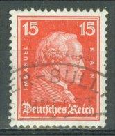 DEUTSCHES REICH 1926-27: Mi 391 / YT 383, O BAHNPOST - KOSTENLOSER VERSAND AB 10 EURO - Germania