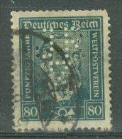 DEUTSCHES REICH 1924-28: Mi 363 / YT 362, PERFIN, O - KOSTENLOSER VERSAND AB 10 EURO - Germania
