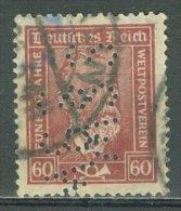 DEUTSCHES REICH 1924-28: Mi 362 / YT 361, PERFIN, O - KOSTENLOSER VERSAND AB 10 EURO - Germania