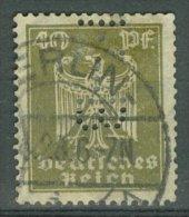 DEUTSCHES REICH 1924-25: Mi 360 / YT 353, PERFIN, O - KOSTENLOSER VERSAND AB 10 EURO - Germania