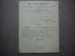 LEVALLOIS-PERRET EMILE MARECHAL MECANIQUE GENERALE 108 RUE JULES GUESDE COURRIER DU 17 MARS 1931 - 1900 – 1949