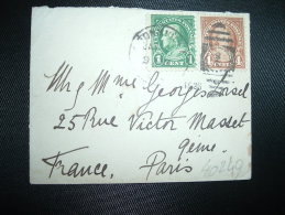 LETTRE MIGNONNETTE TP USA 4c + TP 1c OBL.JAN 16 ? + VIGNETTE MERRY CHRISTMAS AND GOOD HEALTH 1925 - Cinderellas