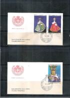 2 FDC Ordre De Malte 1986 - Série Complète (à Voir) - Malte (Ordre De)