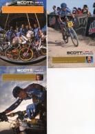3057 CP Cyclisme   3 Cartes  Scott USA - Cyclisme