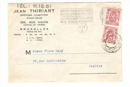 TP 423(2) S/CP De Jean Thiriart Opticien Lunettier R.Haute C.méc.BXL + C.Diamant En 1941 V.E/V PR2507 - Métiers