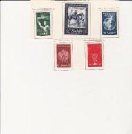 SARRE - N° 301 A 305 NEUF X  - ANNEE 1952 - COTE : 23 € - 1947-56 Occupation Alliée