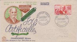 """1955  """" Chardonnet Hilaire , Soie Artificielle  """"   Premier Jour - FDC"""