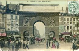 Paris - Porte St Martin - Places, Squares