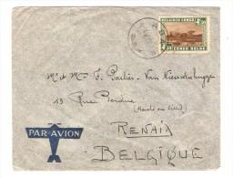 Belgisch Congo Belge TP 202 Parc Nationaux S/L.Avion C.ABA En 19369 V.Renaix Belgique PR2510 - Poste Aérienne: Lettres