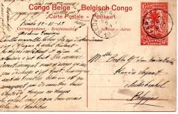 CONGO BELGE : LEOPOLDVILLE, Chameaux Porteurs (très Animée). Entier Postal Voir Scans. - Congo Belge - Autres
