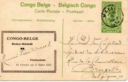 CONGO BELGE : KATANGA Indigènes Nivelant Une Termitière (très Animée) Entier Postal Voir Scans. - Congo Belge - Autres