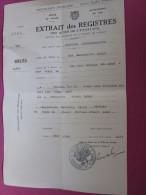 1938 ACTE DE MARIAGE EXTRAIT REGISTRE ETAT CIVIL 1856  CAD MAIRIE DE TOULON - Historical Documents