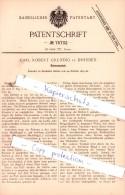 Original Patent  -  Carl Robert Grundig In Dresden , 1893 , Schneeschuh , Schnee , Ski !!! - Wintersport