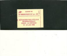 CARNET LIBERTE DE GANDON 2220C7 20 TP G BRILLANTE PHILEX 82 CONF 8 - Usage Courant