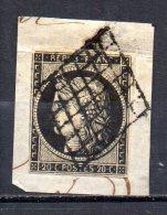 5/ France  : N° 3 Oblitéré  , Cote : 60,00 € , Disperse Belle Collection ! - 1849-1850 Ceres