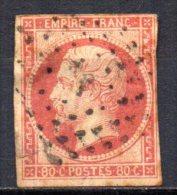 5/ France  : N° 17B Oblitéré  , Cote : 55,00 € , Disperse Belle Collection ! - 1853-1860 Napoleon III
