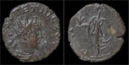 Tetricus II Billon Antoninianus Pax Standing Left - 5. L'Anarchie Militaire (235 à 284)