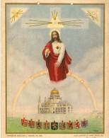 Jésus Et La Basilique De Koekelberg - Mini Affiche Couleur - Bruxelles - 1920 - Affiches