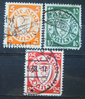 Danzig Lot 1932 - 1938 Mi.Nr.193,194,246 Gestempelt      (M174) - Danzig