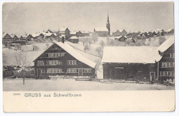 SCHWELLBRUNN: Bauernhof, Stöckli Im Winter ~1900 - AR Appenzell Rhodes-Extérieures