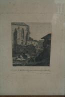 87 - LIMOGES - GRAVURE FIN XIXE S.- VUE D'UNE RUINE DES JACOBINS - ALBERT - A PARIS CHEZ SABAUD- RUE VIEUX AUGUSTINS - Gravados