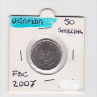 UGANDA   50 SHILLINGS  ANNO 2007 FDC - Uganda