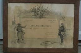 """87 - BUSSIERE POITEVINE - DIPLOME D' HONNEUR MINISTERE DE LA GUERRE A LA """" JOYEUSE """" EDUCATION SPORTIVE-1922-SCOTT 1919 - Diplomi E Pagelle"""