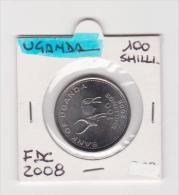 UGANDA   100 SHILLINGS  ANNO 2008 FDC - Uganda