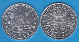FELIPE V  8  REALES   PLATA  1.743   MÉXICO   SC/UNC     Réplica       T-DL-10.884 - [ 1] …-1931 : Royaume