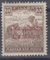 France Occupation Hungary Arad 1919 Yvert#10 Mint Never Hinged, Expert Mark - Neufs