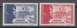 France 1942 Legion Tricolore Yvert#565-566 Mint Hinged (avec Charnieres) - France