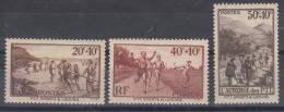 France 1937 Yvert#345-347 Mint Never Hinged (sans Charnieres)