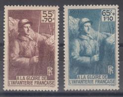 France 1938 Yvert#386-387 Mint Never Hinged (sans Charnieres)