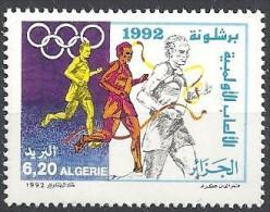 1992 Algérie N° 1020  Nf** .  Jeux Olympiques D'été à Barcelone (Espagne) - Argelia (1962-...)