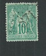 No 76 Type Sage Oblitération Jour De L'an Gros Chiffre 871 - 1876-1878 Sage (Type I)