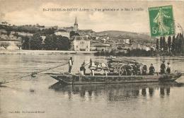 SAINT PIERRE DE BOEUF VUE GENERALE ET LE BAC  A TRAILLE - Other Municipalities
