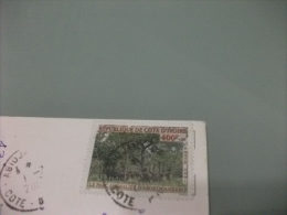 STORIA POSTALE FRANCOBOLLO COMMEMORATIVO COSTA D'AVORIO COTE D'IVOIRE   SAN PEDRO LE PORT DE PECHE - Costa D'Avorio