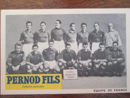 EQUIPE DE FRANCE  FRANCE YOUGOSLAVIE  1949 - Football