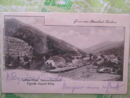 GRUSS AUS STAMBACH SAVERNE LUFTKUR HOTEL DOS 1900 - Andere Gemeenten