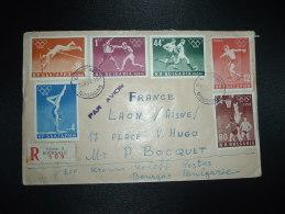 LR PAR AVION BULGARIE FRANCE TP 80 + TP 44 + TP 16 + TP 12 + TP 4 + TP 1 OBL.10-12-60 BOURGAS - Ete 1956: Melbourne