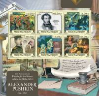 MOZAMBIQUE 2012 - Alexander Pushkin, Pablo Picasso. Official Issue - Picasso