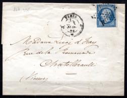 5/ France  : N° 14a SUR LETTRE   , Cote : 5,00 € , Disperse Belle Collection ! - 1862 Napoleon III
