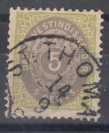 Denmark Danish Antilles (West India) 1896 Perf. 12 3/4 Mi#19 Yvert#8a Used - Dinamarca (Antillas)